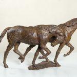 """Serge Baroteaux """"Bourrasque"""" , bronze à la cire perdue, 20 x 40 x 11 cm : 4 6"""