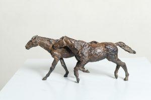 "Serge Baroteaux ""Galopade"", bronze à la cire perdue, 29 x 13 x 17 cm : 2 7"