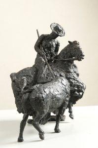 """Serge Baroteaux : """"Picador"""", bronze à la cire perdue, 30 x 17 x 24 cm 4 500,00 €"""