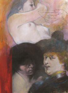 Kurt Mair - huile sur papier marouflée/bois - format : 73 x 54 cm - prix : 2 500 €