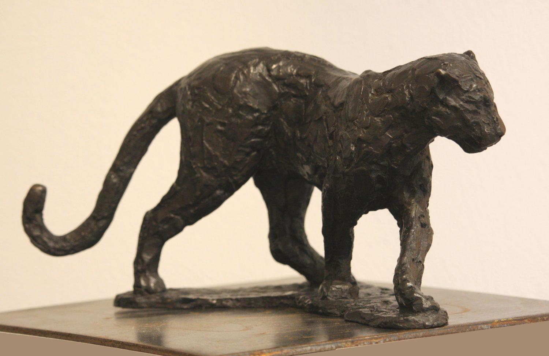 """Serge Baroteaux,""""Panthère en s"""", Long.29 xHaut.16,5 Larg. 10,5 cm"""