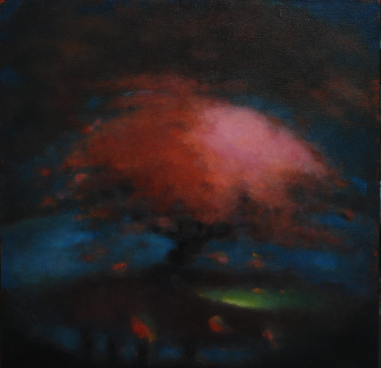 Tourbillons  - huile sur toile - format 80 x 80 cm
