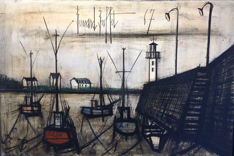 """Bernard Buffet,""""Marée basse"""",huile sur toile, 54 x 81 cm ."""