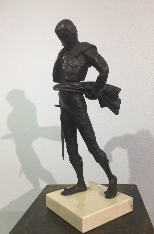 """Silvino Poza, """"El desplante"""", bronze à la cire perdue, 38 x 20 x 17 cm"""
