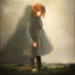 """Berg """"Au royaume de Liliput"""", huile sur toile, 100 x 100 cm"""