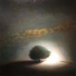 """Berg """"Nocturne"""", huile sur toile, 120 x 120 cm"""