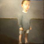 """Berg """"Pas à pas"""", huile sur toile, 100 x 100 cm"""