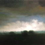 """Berg,""""Pâturages"""", huile sur toile, 30 x 60 cm"""